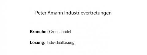 Peter Amann Industrievertretungen