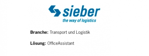 Sieber Transport AG - Logistiklösung